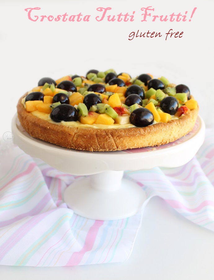 Tarte Tutti Frutti sans gluten - La Cassata Celiaca