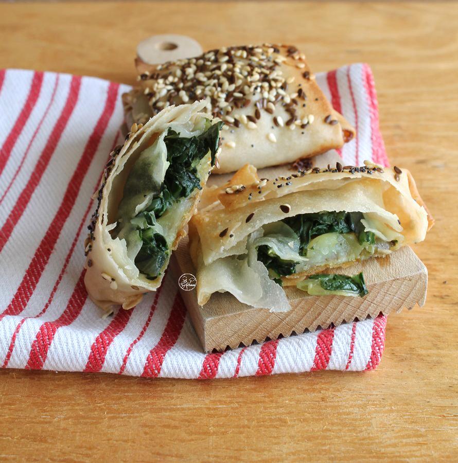 Carrés de pâte filo terre-mer sans gluten - La Cassata Celiaca