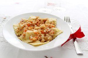 Ravioli di magro con ragù di pesce- La Cassata Celiaca