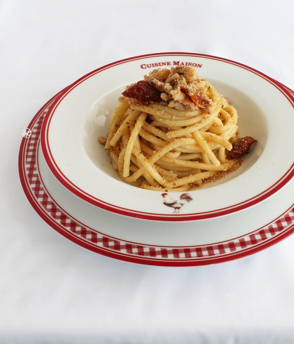 Bucatinis avec rougets et tomates confites sans gluten - La Cassata Celiaca