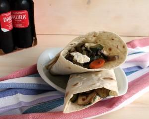 Piadina aux légumes sans gluten - La Cassata Celiaca