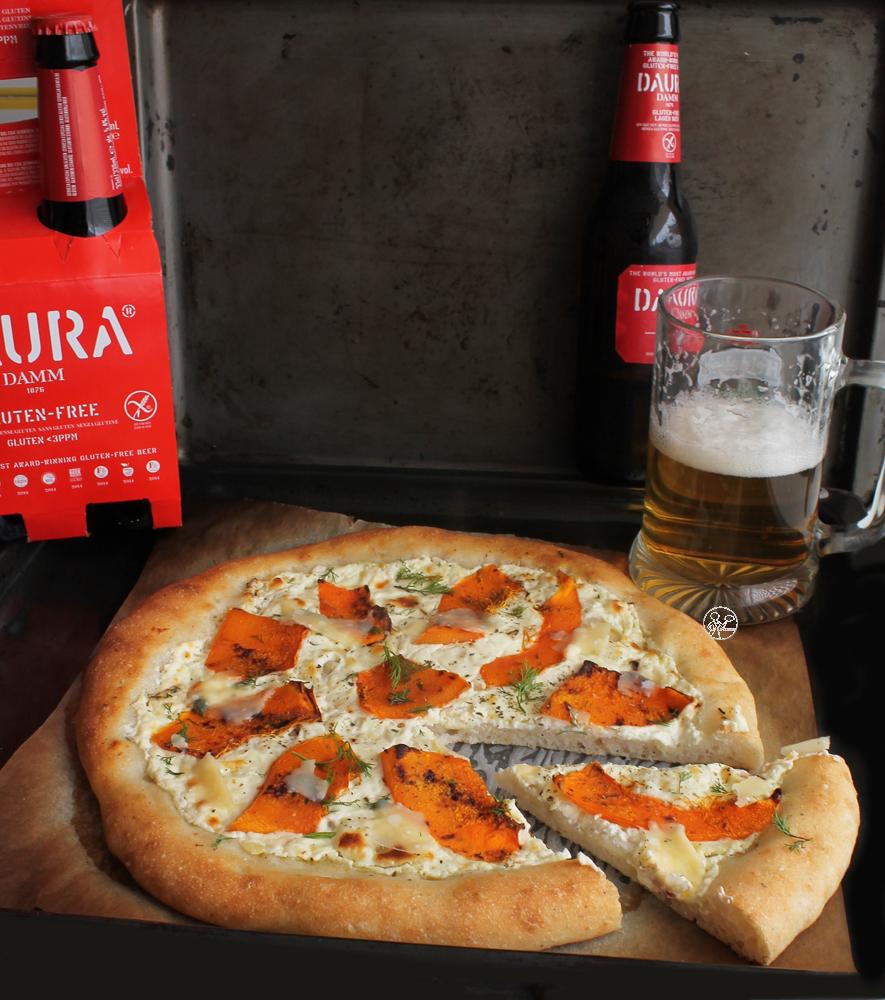 Pizza con la zucca senza glutine . La Cassata Celiaca
