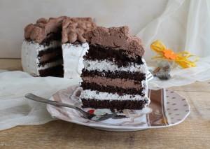 Chocolate cake aux deux chocolats sans gluten - La Cassata Celiaca