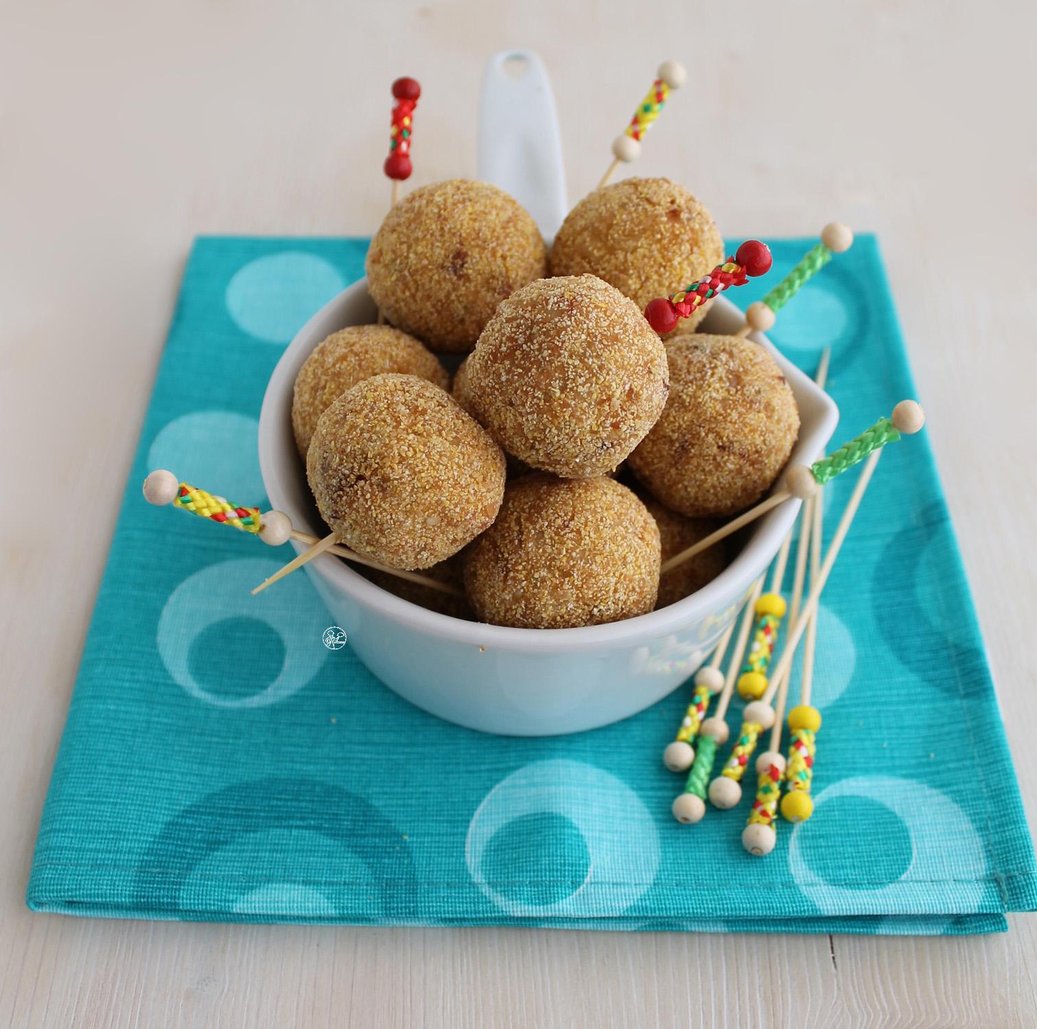 Arancine con patate e pancetta senza glutine - La Cassata Celiaca