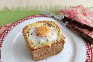 Panier avec artichauts et œuf sans gluten - La Cassata Celiaca