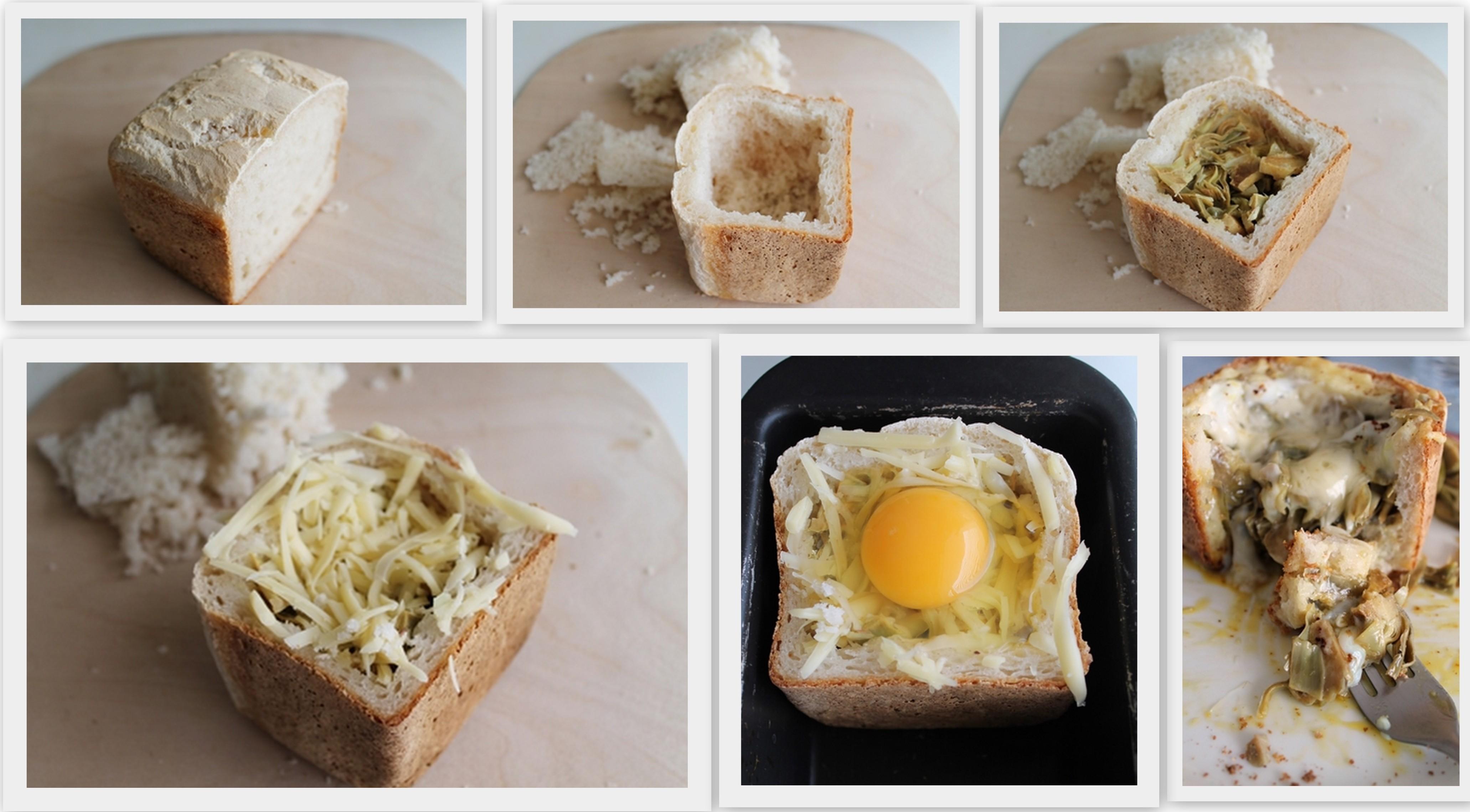 Panier avec artichauts et œuf sans gluten - La Cassata