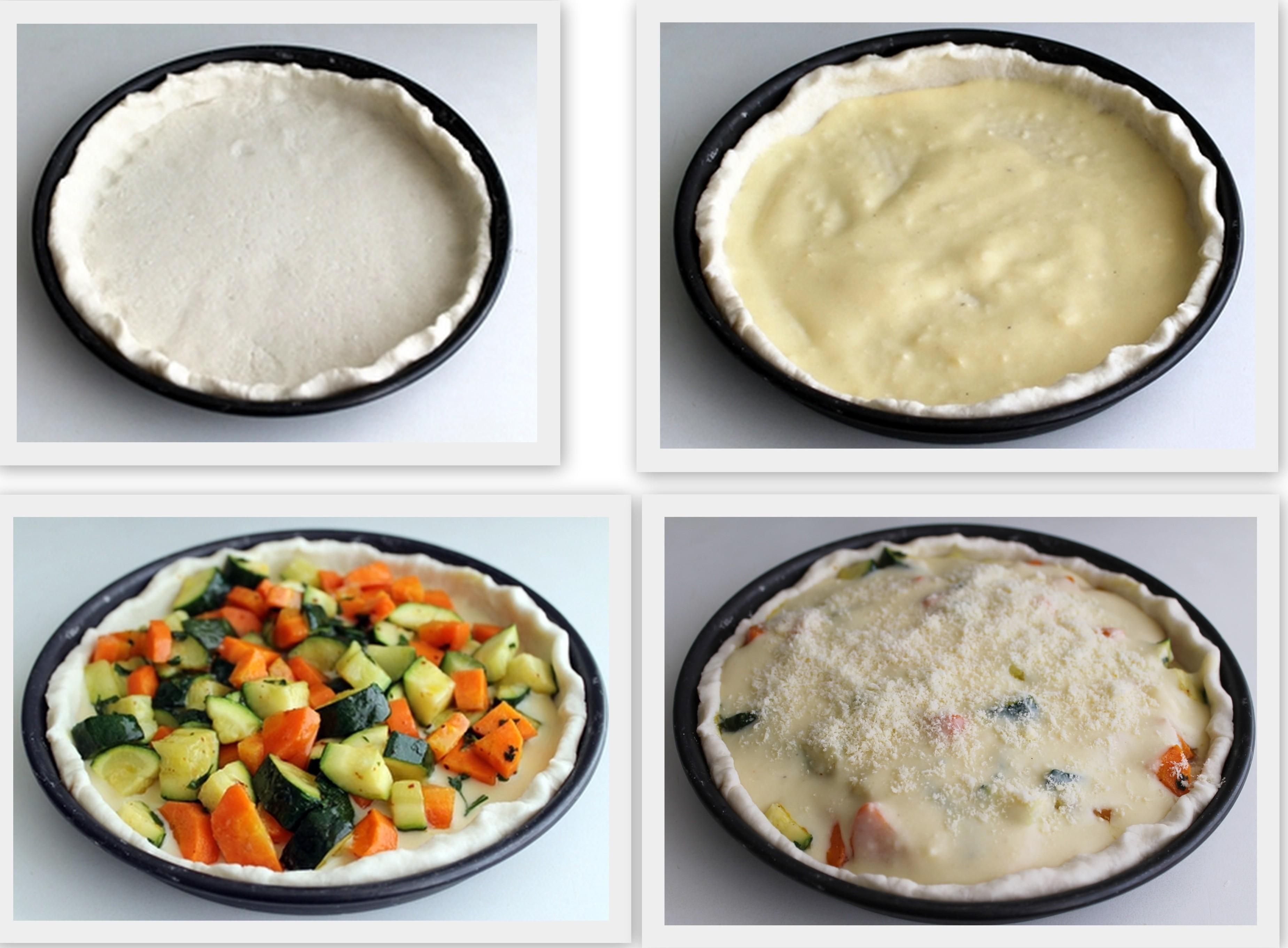 Tarte salée aux légumes sans gluten - La Cassata
