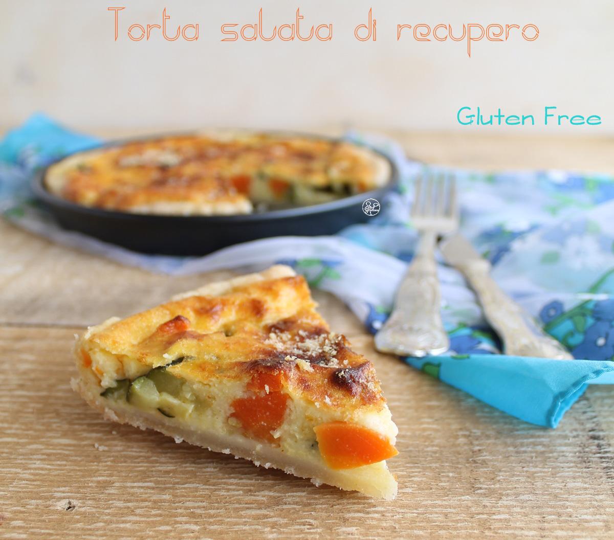 Tarte salée aux légumes sans gluten - La Cassata Celiaca
