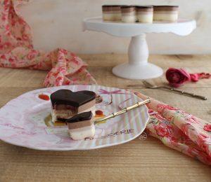 Bavarois aux trois chocolats - La Cassata Celiaca