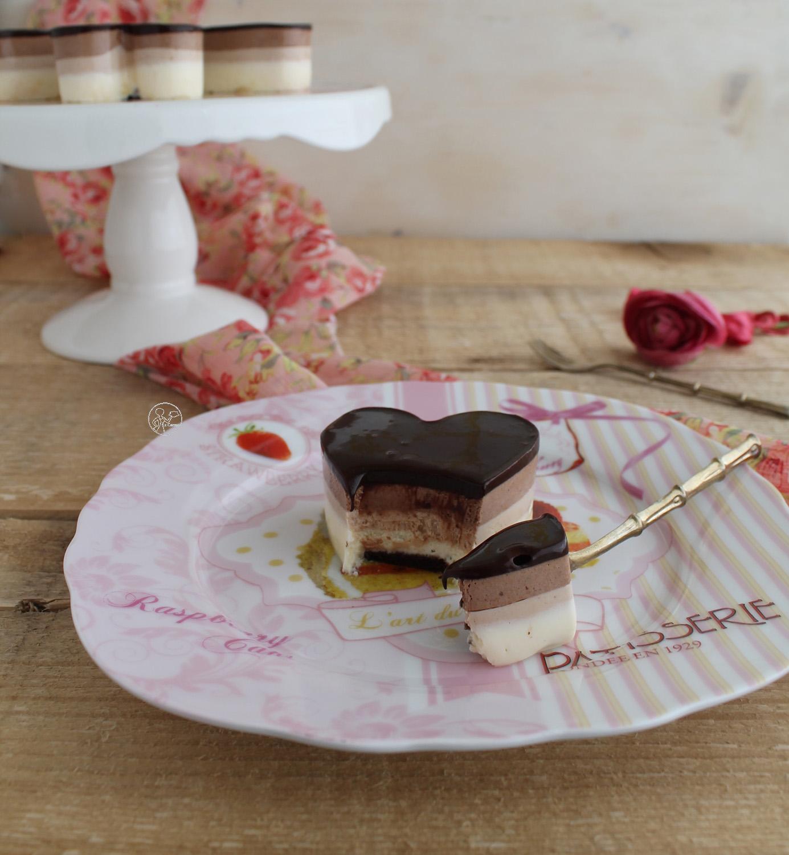 Bavarese ai tre cioccolati - La Cassata Celiaca