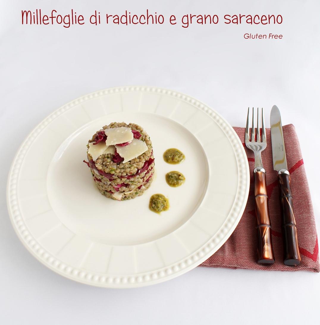 Millefoglie di grano saraceno e radicchio senza glutine - La Cassata Celiaca