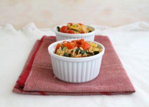 Salade chaude de riz et courgettes- La Cassata Celiaca