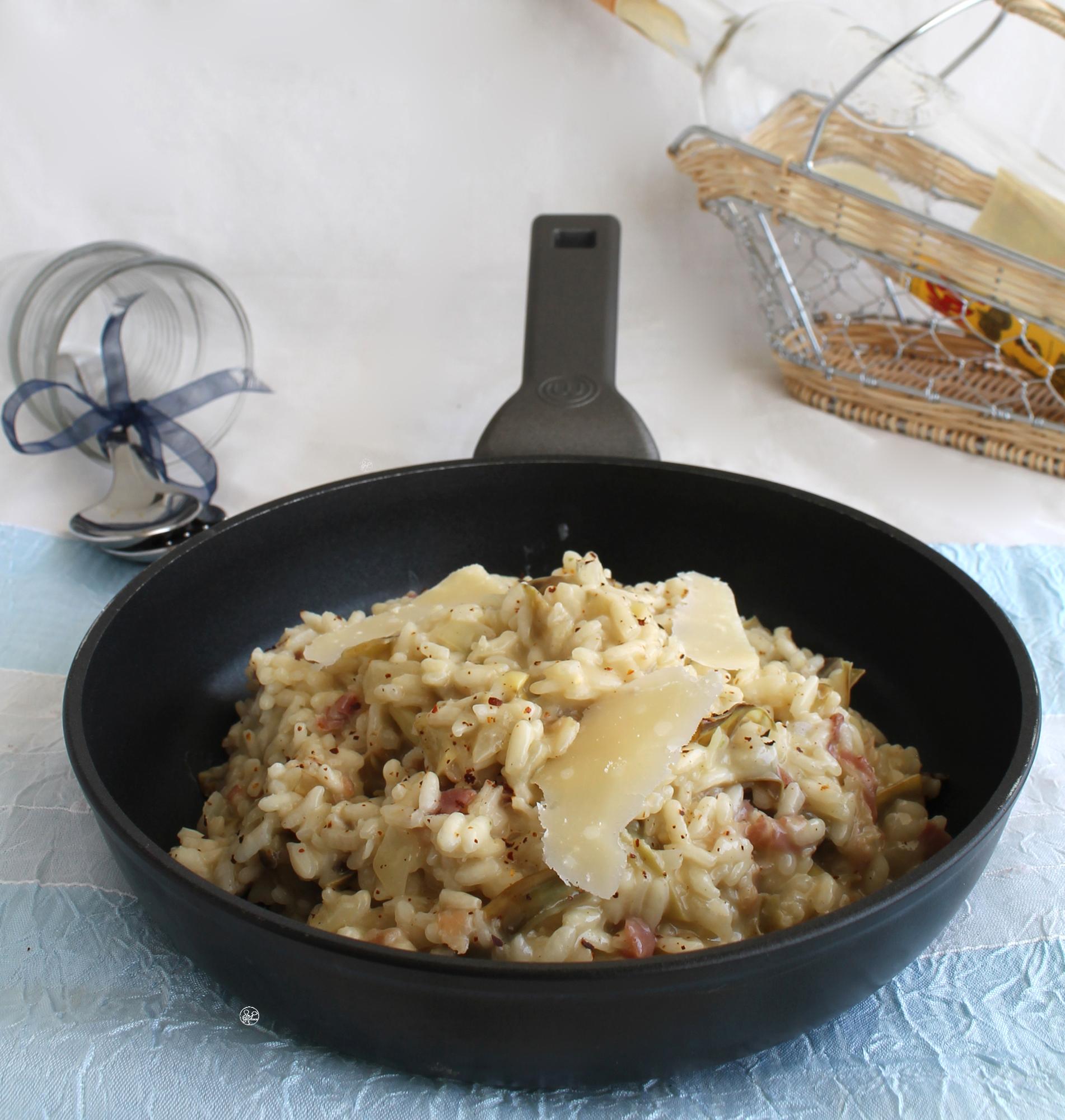 Risotto aux artichauts et bacon sans gluten - La Cassata Celiaca