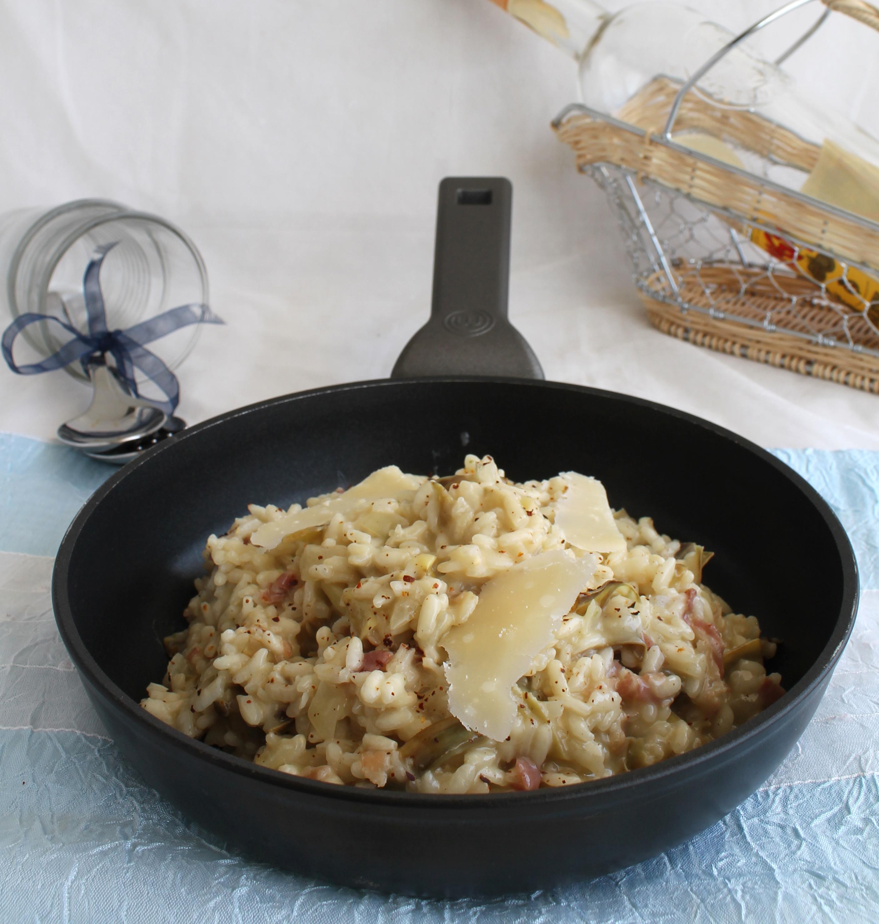 Risotto aux artichauts et bacon sans gluten - La Cassata