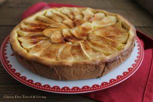 Tarte avec crème et pommes sans gluten - La Cassata Celiaca