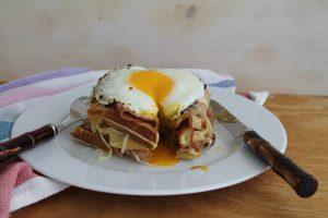 Waffel avec porchetta sans gluten - La Cassata Celiaca