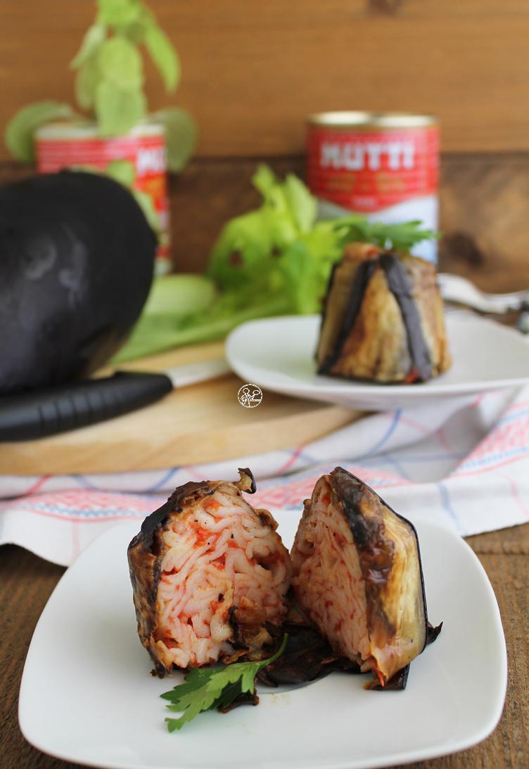 Timbale d'aubergines et tagliatelles sans gluten - La Cassata Celiaca