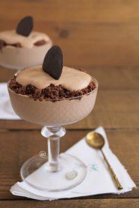 Verrines avec mousse au chocolat sans gluten - La Cassata Celiaca