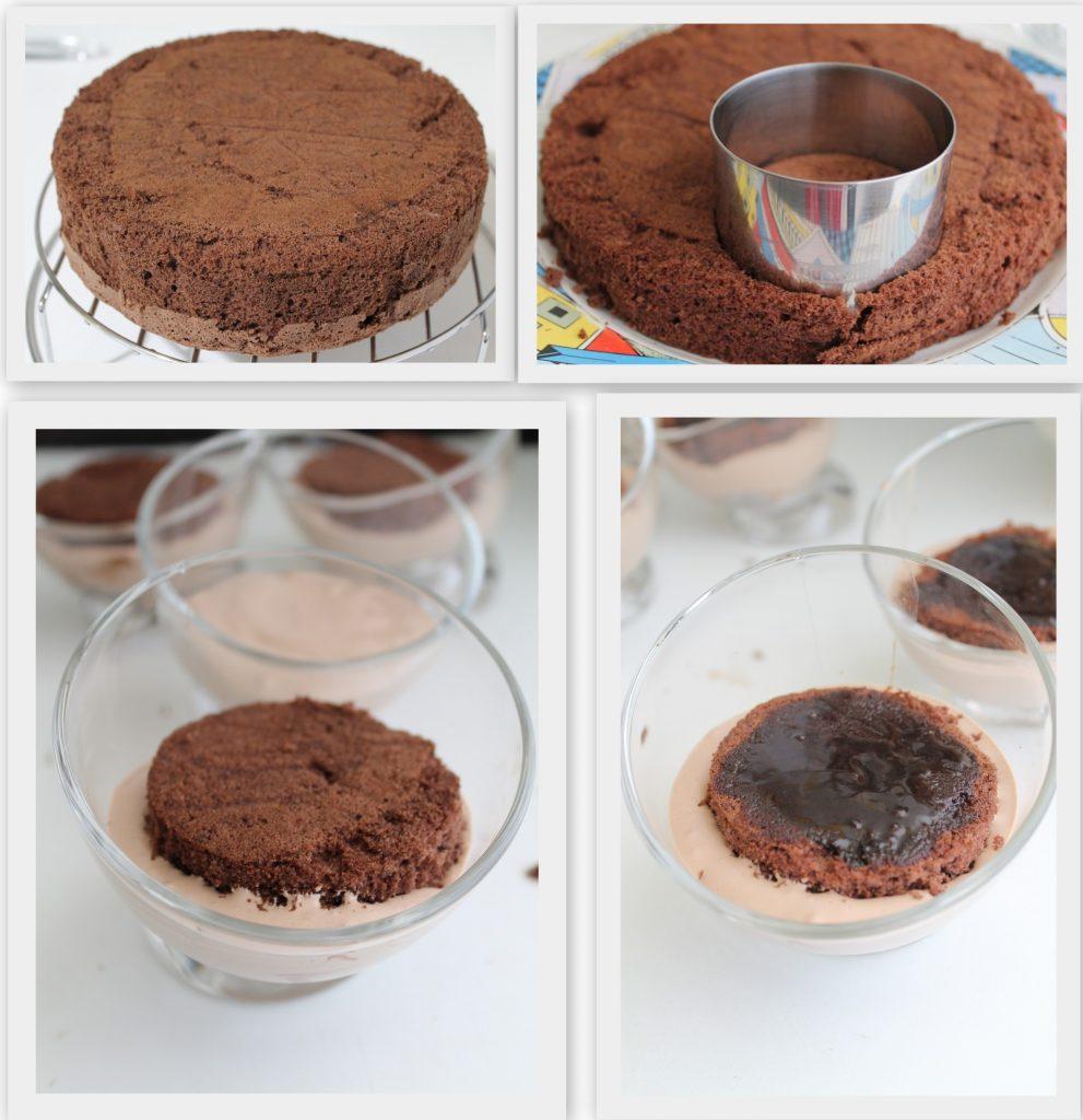 Coppe con mousse al cioccolato senza glutine - La Cassata Celiaca