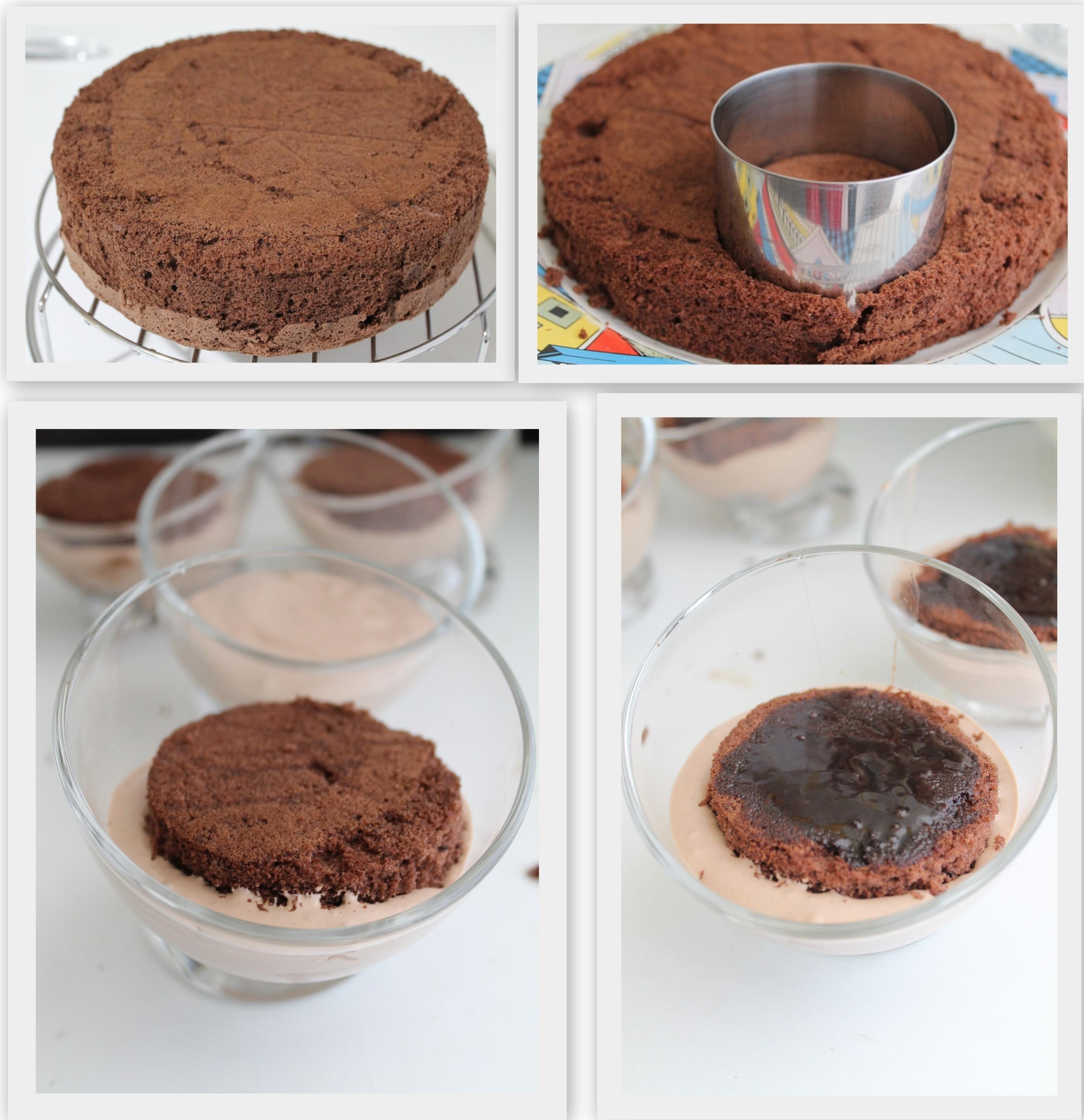 Verrines avec mousse au chocolat sans gluten - La Cassata