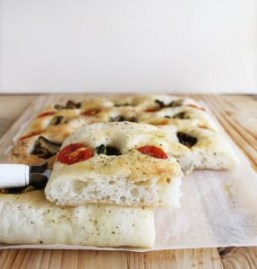 Focaccia con verdure grigliate senza glutine - La Cassata Celiaca