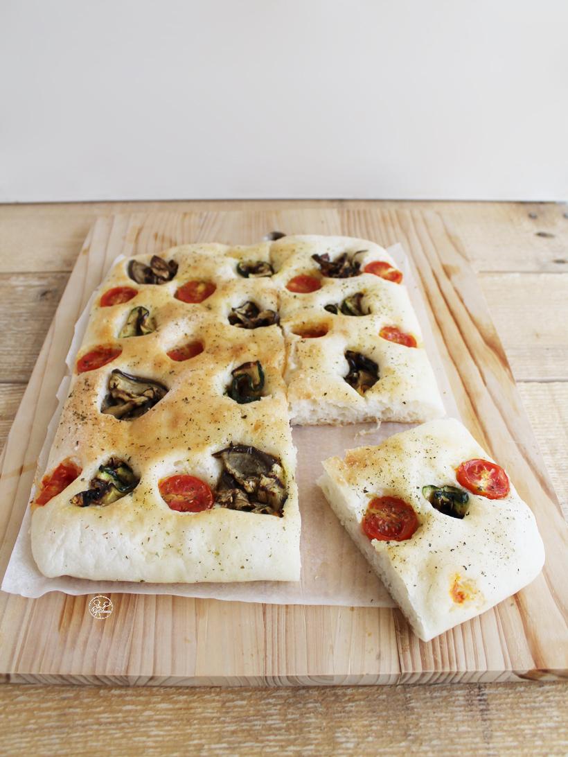 Focaccia aux légumes grillés sans gluten - La Cassata