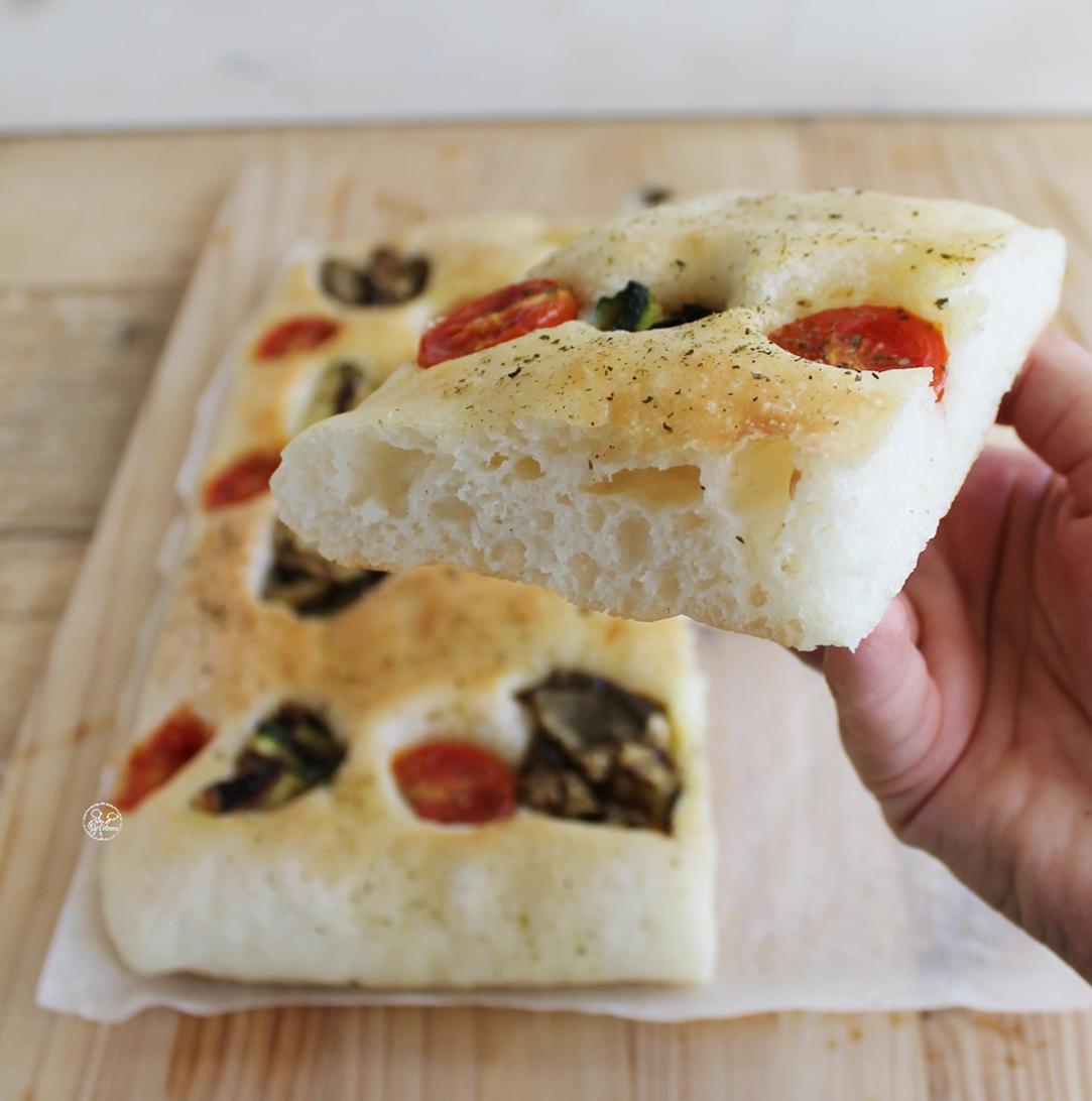 Focaccia aux légumes grillés sans gluten - La Cassata Celiaca