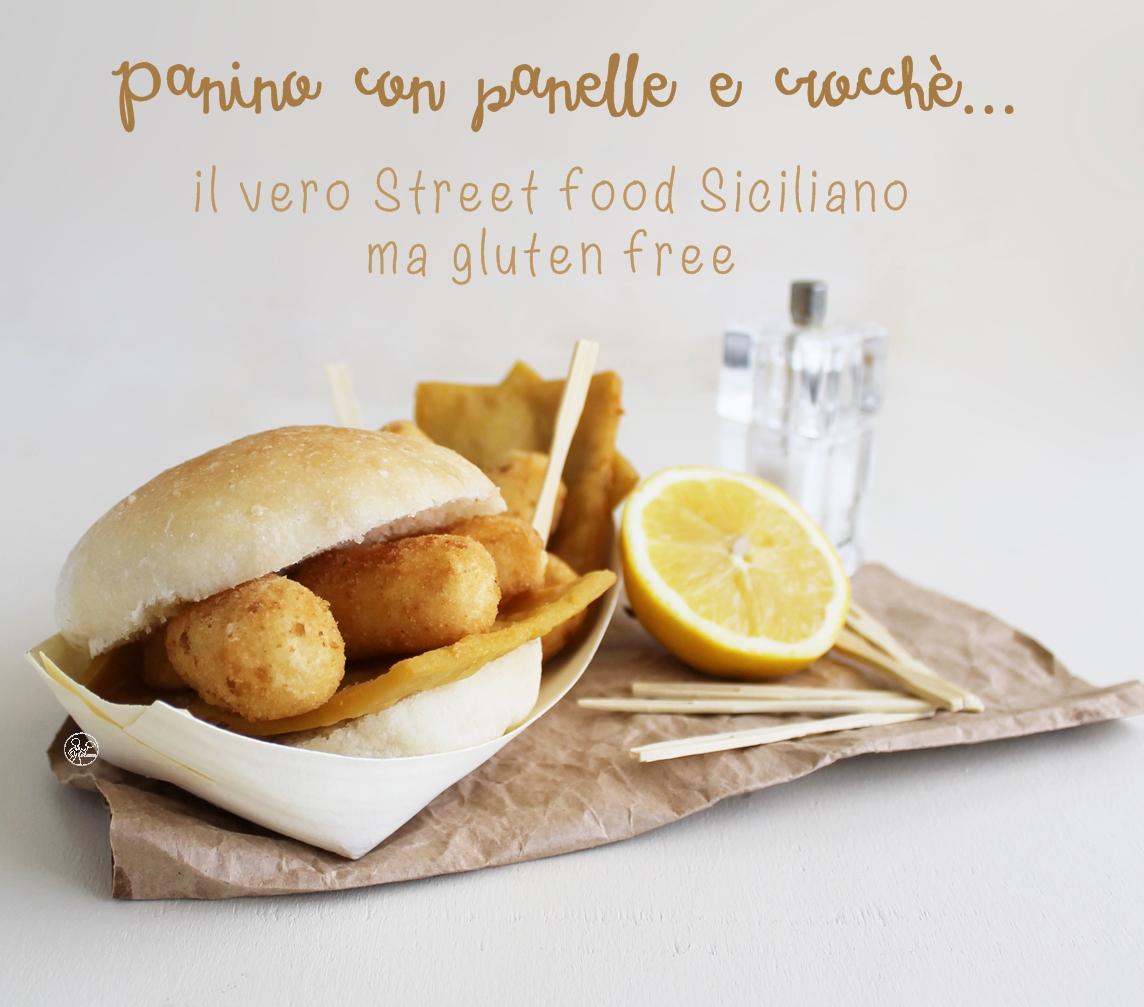 Panino con panelle e crocché senza glutine - La Cassata Celiaca