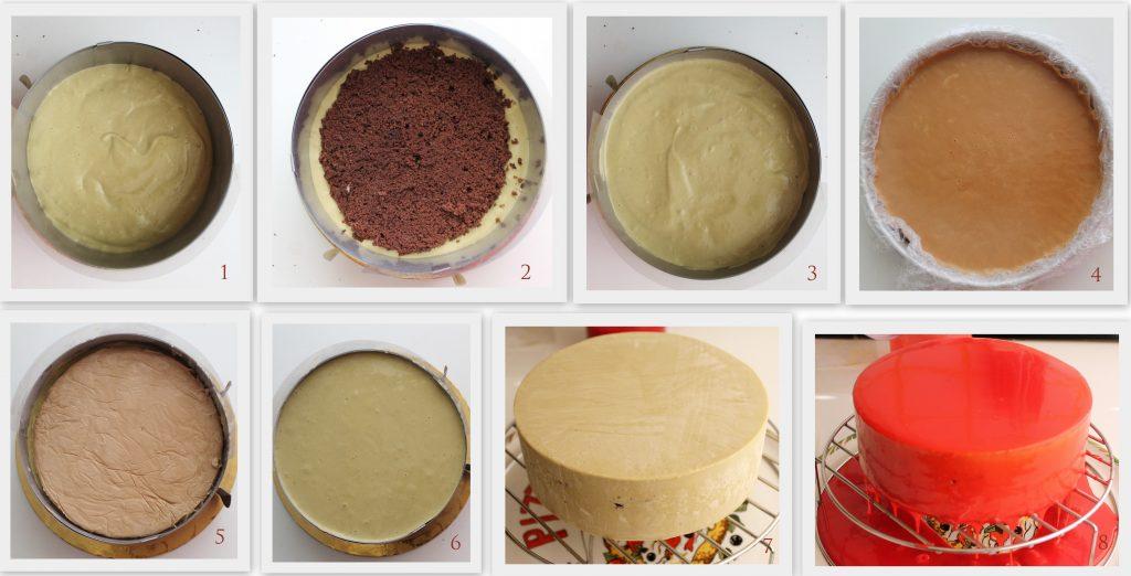 Torta ciocco-pistacchio senza glutine - La Cassata Celiaca