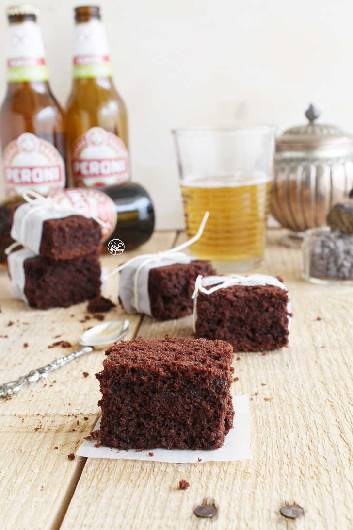 Brownie alla birra Peroni senza glutine - La Cassata Celiaca