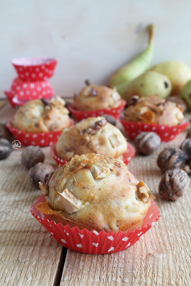 Muffins con pere e gorgonzola senza glutine - La Cassata Celiaca