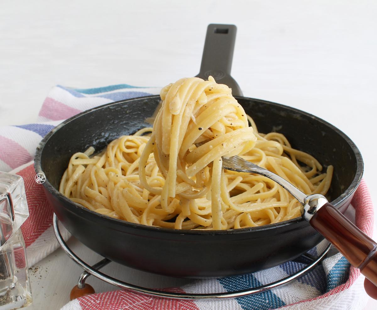 Spaghettis cacio e pepe sans gluten - La Cassata Celiaca