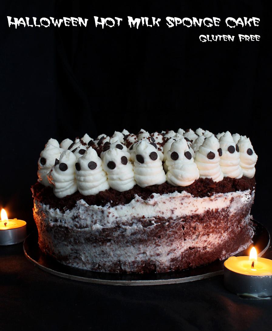Halloween Hot Milk Sponge Cake sans gluten - La Cassata Celiaca