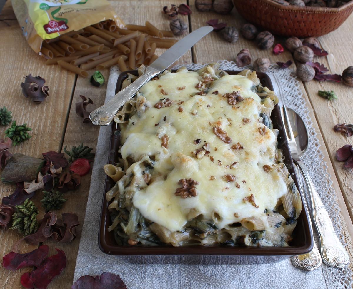 Pasticcio di pennette con bietole e noci - La Cassata Celiaca