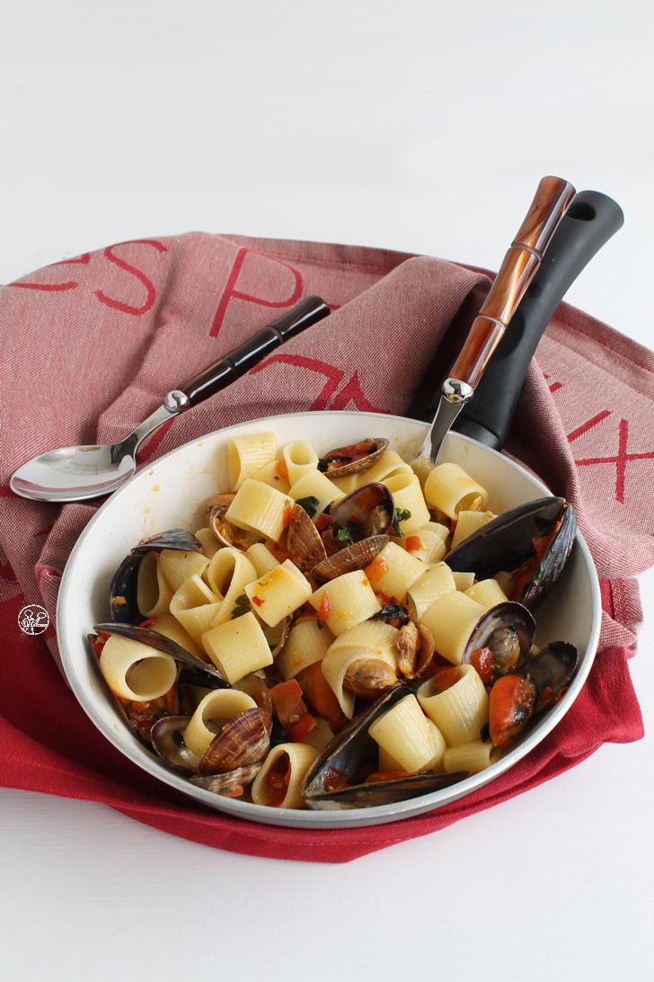 Calamarata con cozze e vongole - La Cassata Celiaca