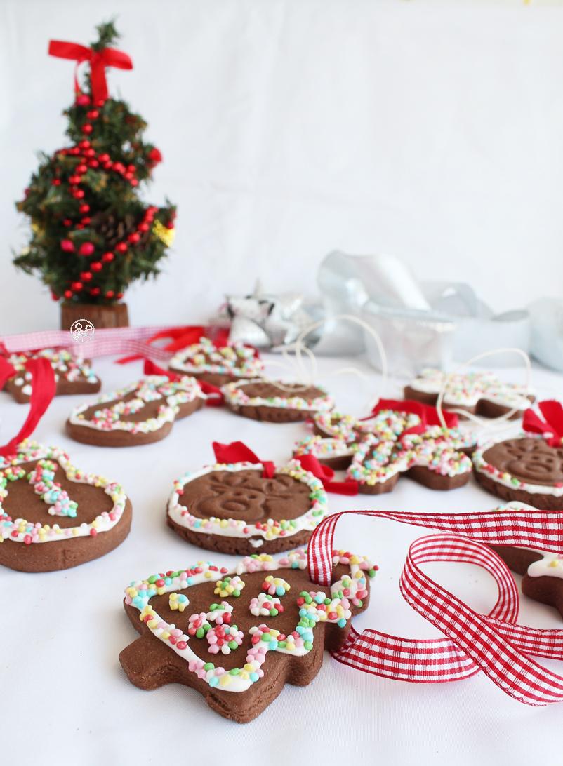 Biscotti natalizi al cacao senza glutine - La Cassata Celiaca