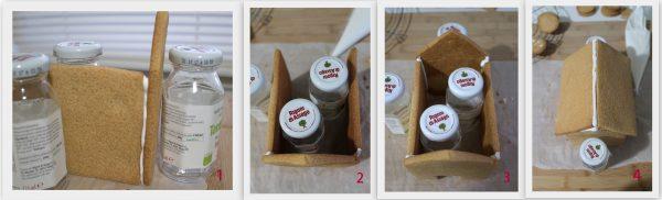 Maison de Noël en pain d'épices sans gluten - La Cassata Celiaca