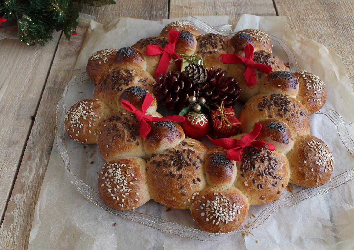 Ghirlanda di pane senza glutine - La Cassata Celiaca