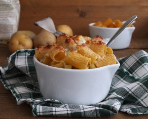 Gratin di rigatoni e patate senza glutine - La Cassata Celiaca