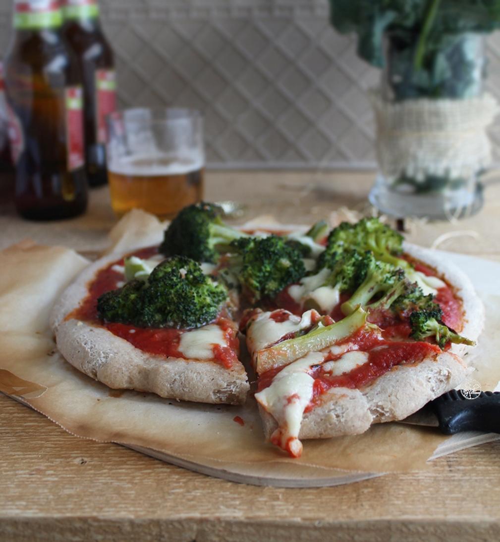 Pizza rustica con broccoletti senza glutine - La Cassata Celiaca