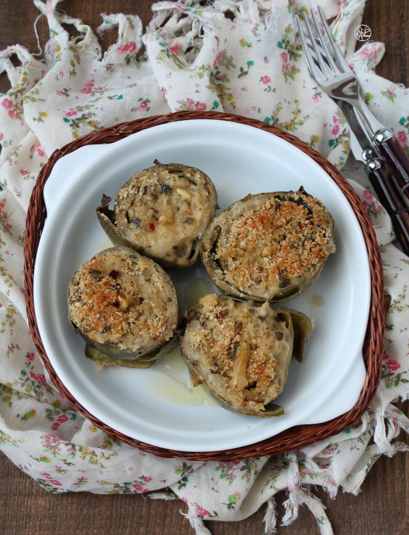 Artichauts farcis à l'italienne sans gluten - La Cassata Celiaca