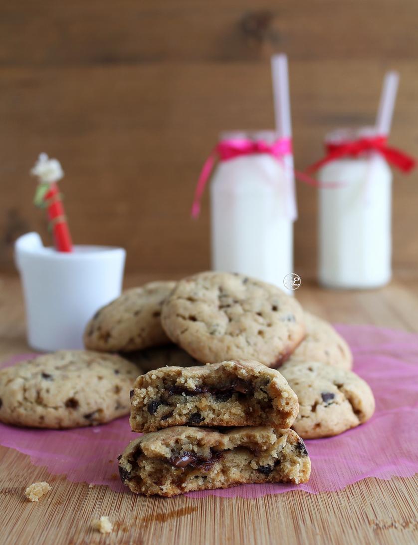 Cookies au Nutella et chocolat sans gluten - La Cassata Celiaca