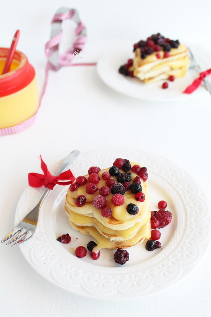 Pancakes, lemon curd et fruits de bois sans gluten - La Cassata Celiaca