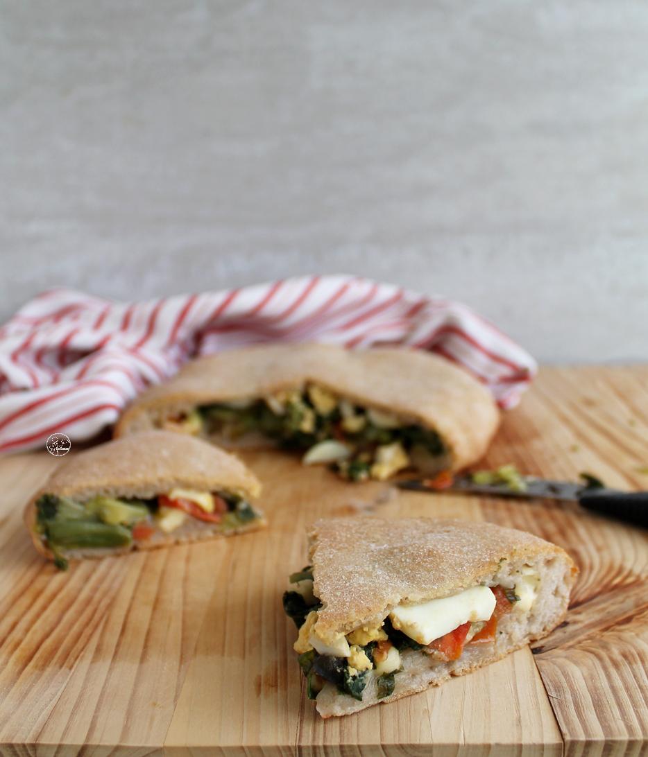 Focaccia fourrée aux légumes sans gluten - La Cassata Celiaca