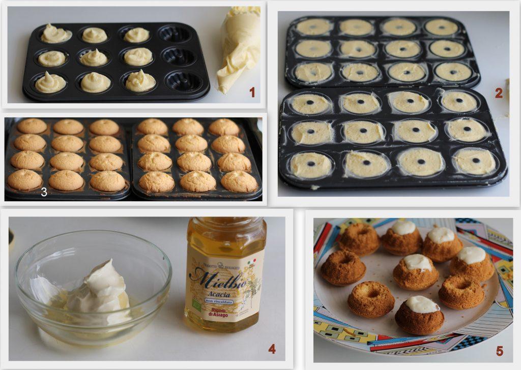Pasticcini con crema a fragole senza glutine - La Cassata Celiaca