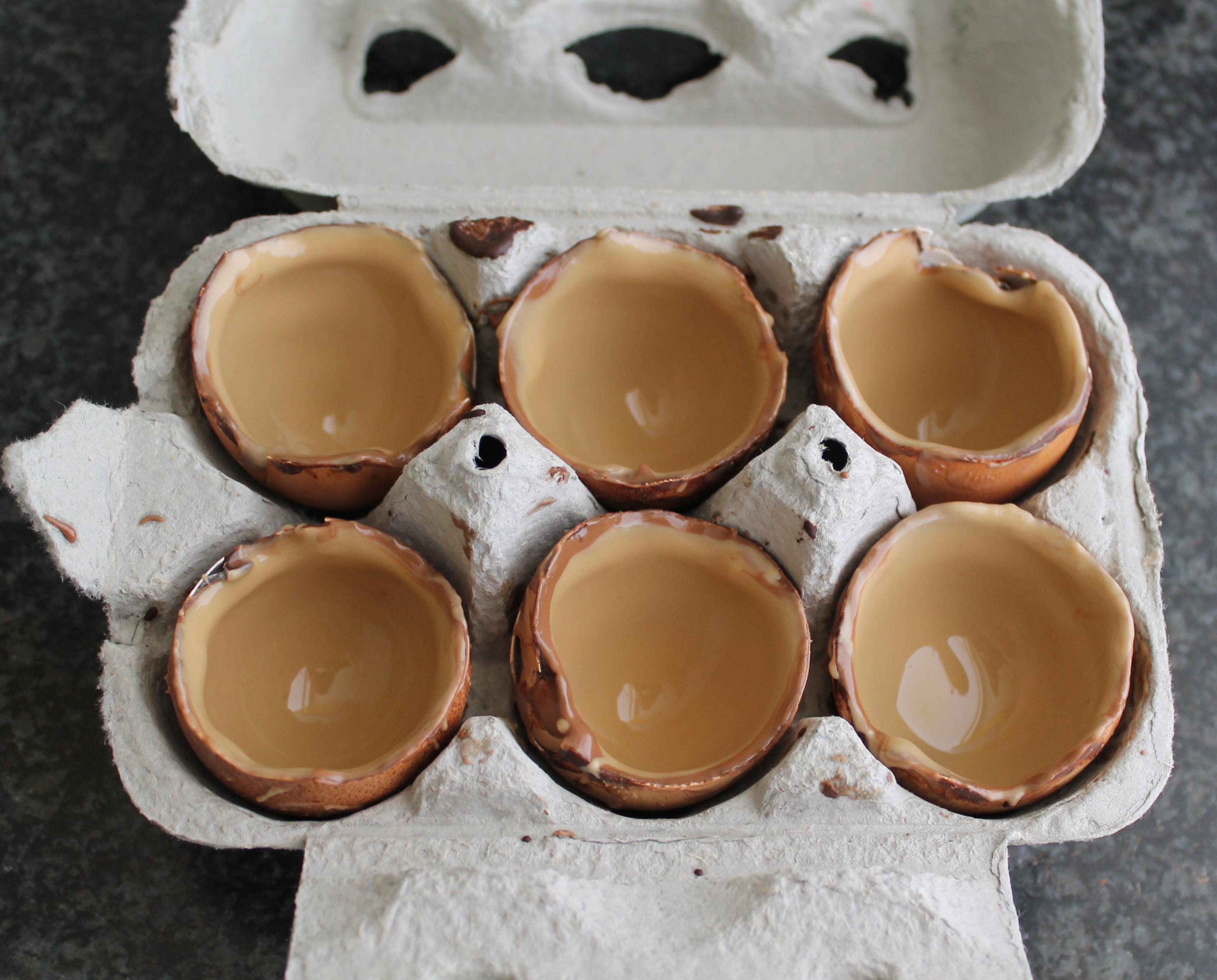 Petits œufs au chocolat et crème au mascarpone - La Cassata Celiaca