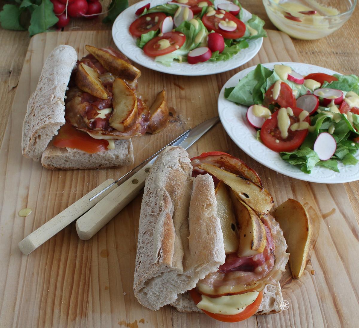 Panino con funghi, pancetta e pere gluten free - La Cassata Celiaca