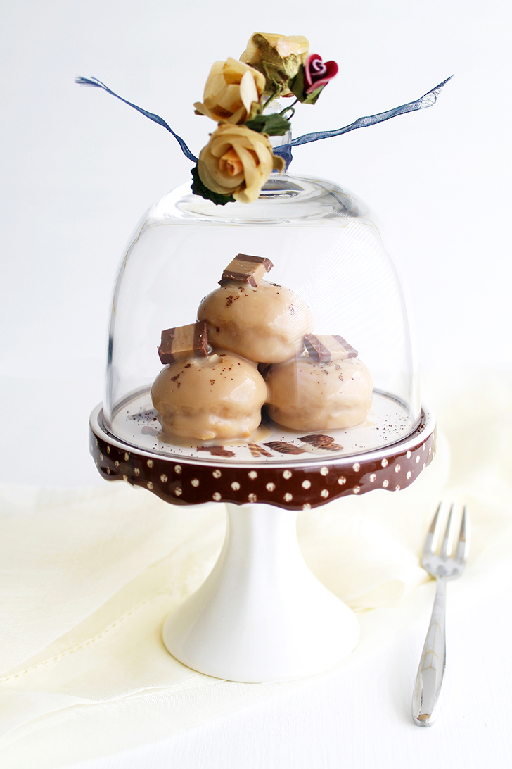 Profiteroles al caffè senza glutine per Ifood - La Cassata Celiaca