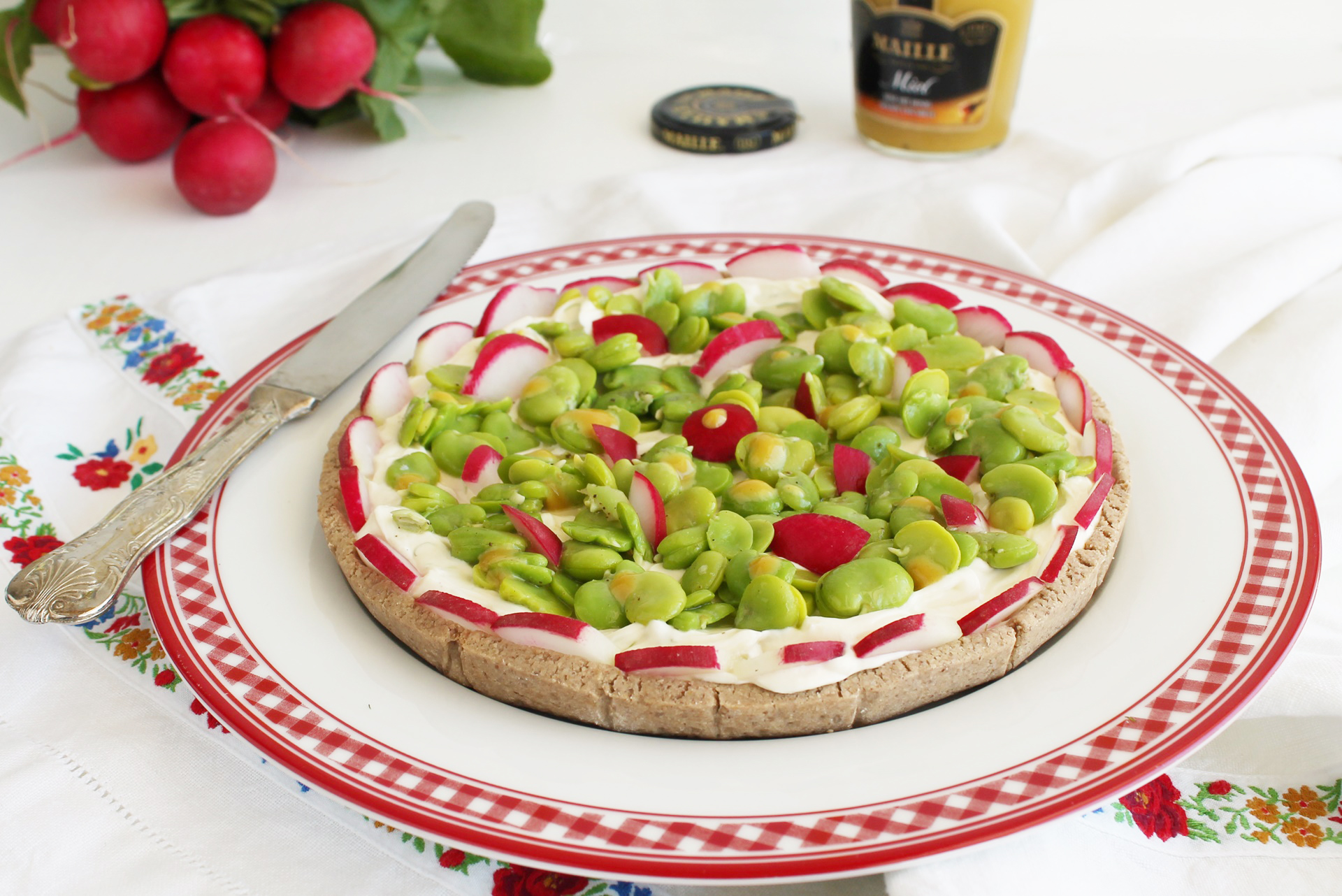 Crostata gluten free di formaggio e favette per Ifood - La Cassata Celiaca