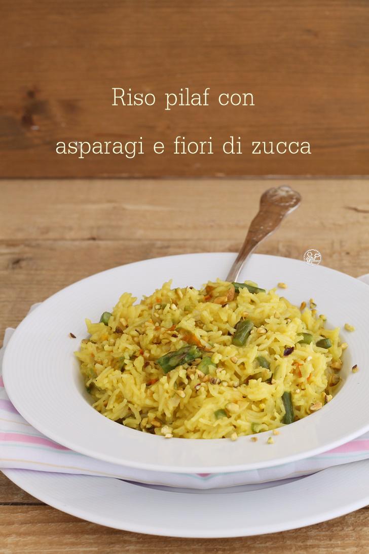 Riso pilaf con asparagi e fiori di zucca - La Cassata Celiaca